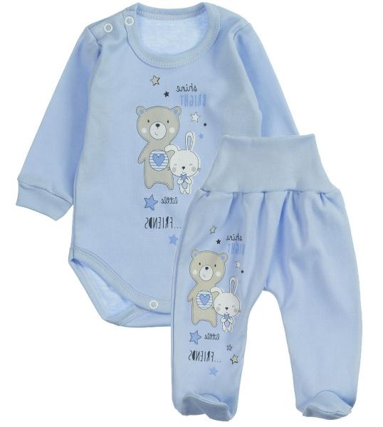 MBaby 2-dielna dojčenská sada Shine Bright - modrá, veľ. 68