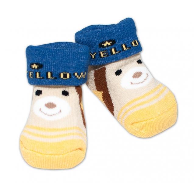 Dojčenské ponožky 0-6 m,Bobo Baby - Medvedík