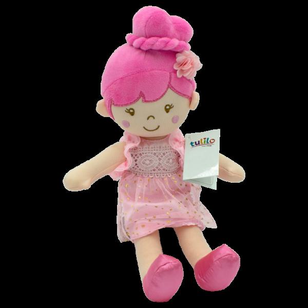 Handrová bábika Soňa, Tulilo, 30 cm - ružová