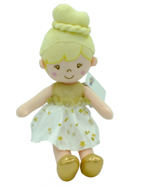 Handrová bábika Soňa, Tulilo, 30 cm - žltá