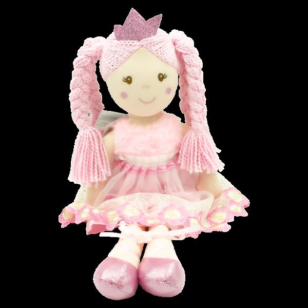 Handrová bábika Paula-princezna, Tulilo, 50 cm - růžová