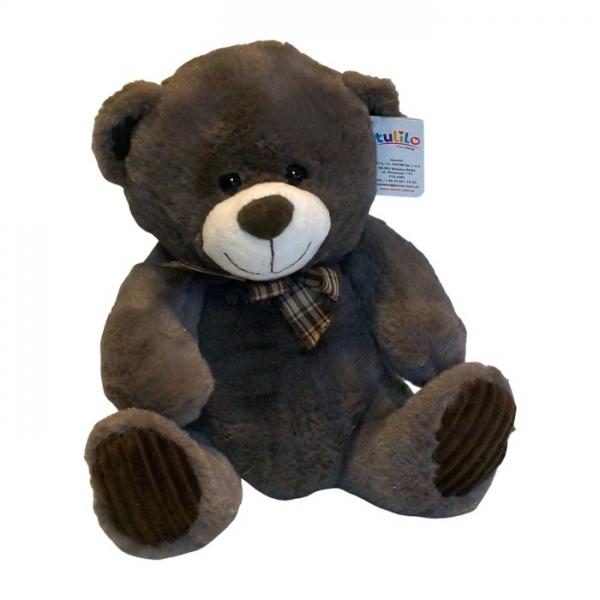 Plyšový medvedík Tulilo, 30 cm - hnedý
