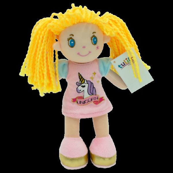 Handrová bábika Soňa, Tulilo, 20 cm - ružová