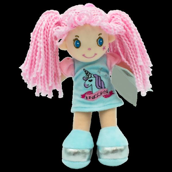 Handrová bábika Sofie, Tulilo, 20 cm - modrá