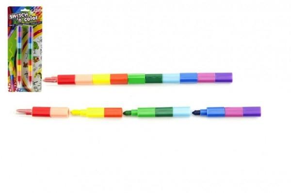 Pastelky meniace farbu 2ks 22cm na karte