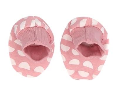 Mamatti Dojčenské topánočky, ponožtičky Hello - koralové, vzor