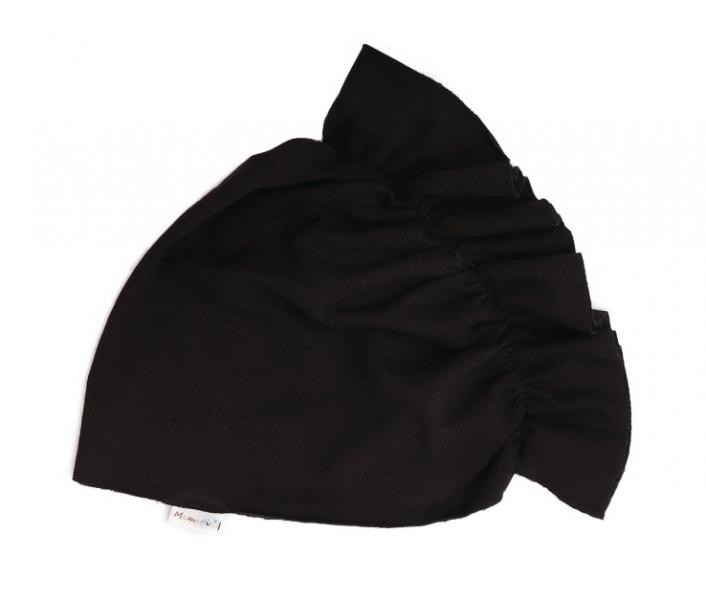 Mamatti Bavlnená detská čiapka - turban, čierný, veľ. 2-3 roky