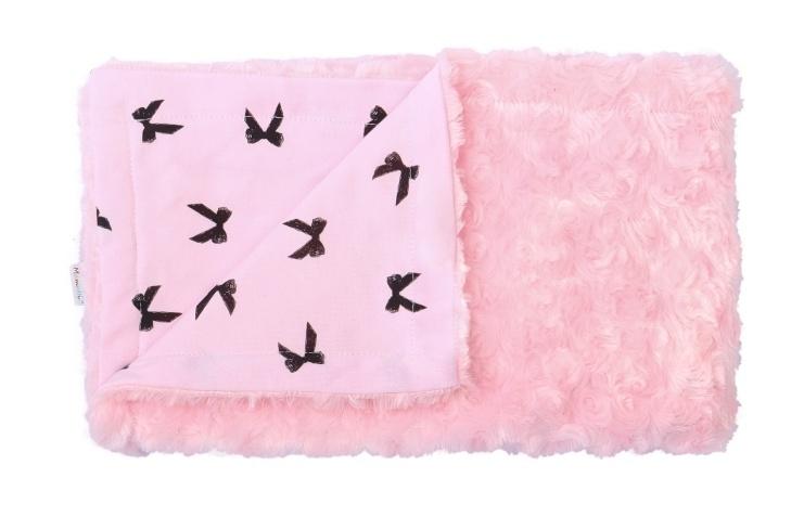 Mamatti Detská deka, dečka chloupek Mouse, 75 x 90 cm, ružová, chĺpok ružový