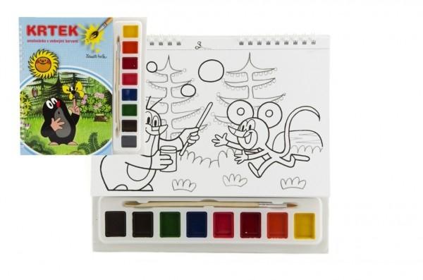 Maľovanky Krtko 3 s vodovými farbami a štetcom
