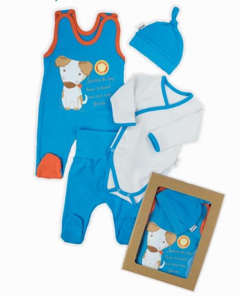 NICOL Komplet oblečenie Mouse - 4 dielny, modrý, veľ. 68