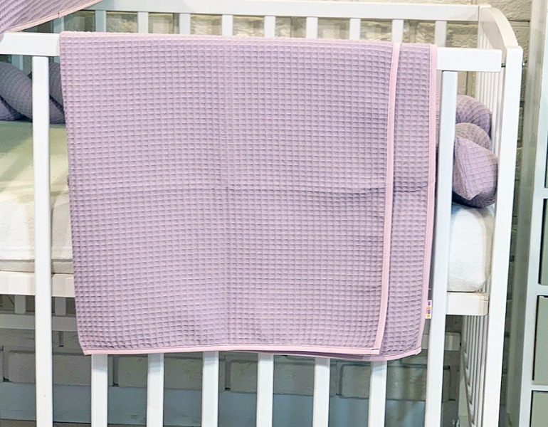 BABY NELLYS Deka 90 x 90 cm - vaflová, ružová