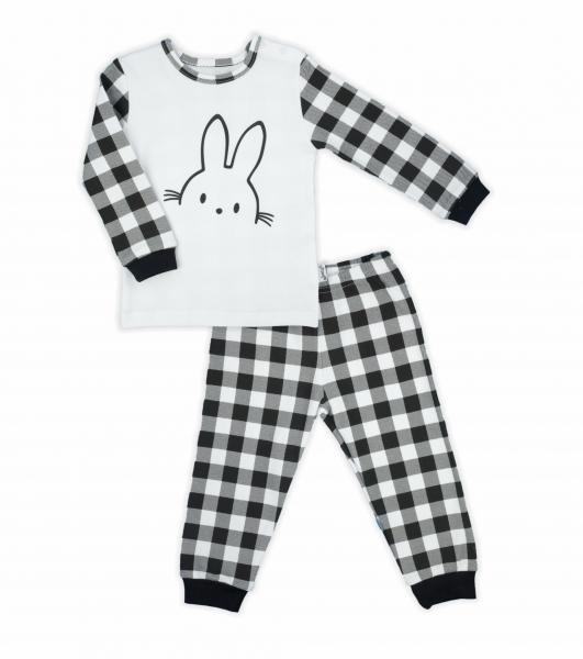 Nicol detské pyžamo Nicol Bunny karko - čiernobiele
