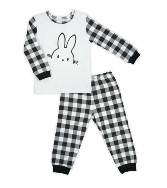Detské pyžamo Nicol Bunny karko - čiernobiele, veľ. 92