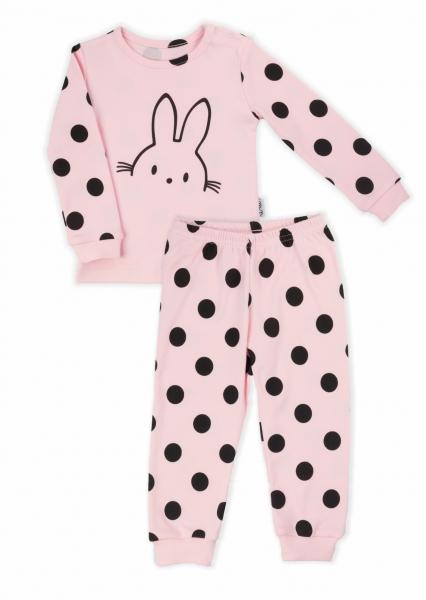 Nicol detské pyžamo Nicol Bunny bodka - svetlo ružové