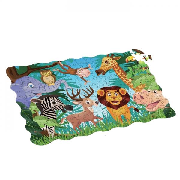 Puzzle zvieratá v džungli 208 ks, 90x64 cm