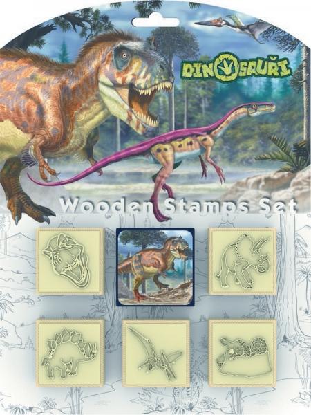 Pečiatky 5 + 1 Dinosaury