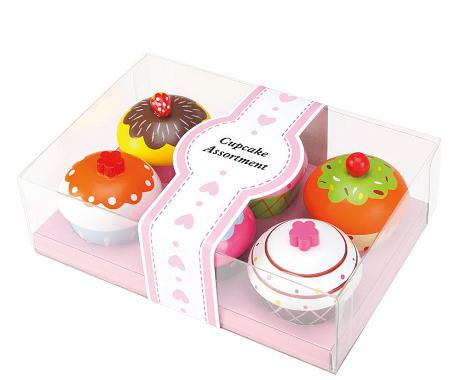 Lenin Drevená súprava cupcake 6ks