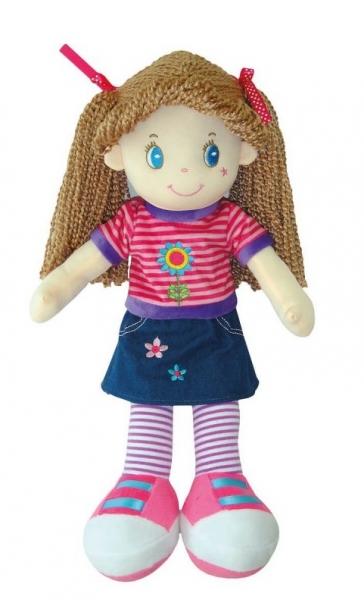 Smily Play, Handrová bábika s hnedými vláskami, 45 cm