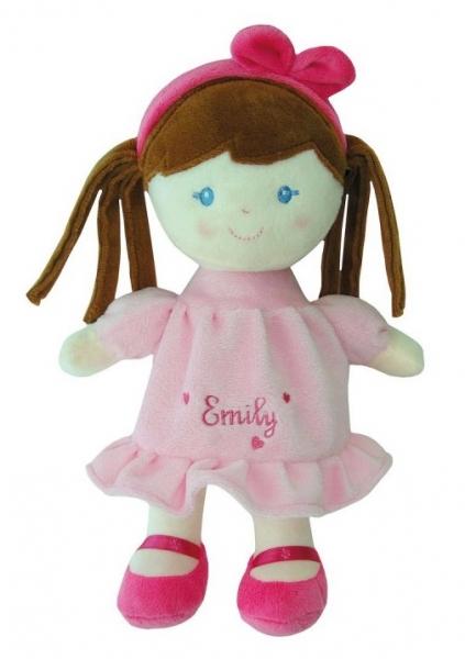 Smily Play, Handrová bábika Emily s hnedými vláskami, 25 cm