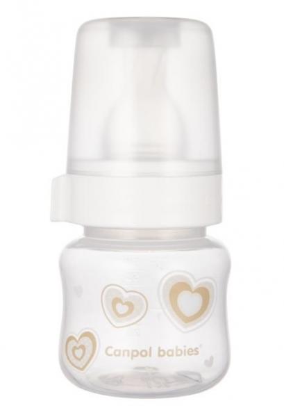 Canpol babies fľaštička so širokým hrdlom New born Baby, 60ml - béžová