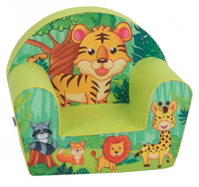 Delsit Detské kresielko, pohovka - Tygřík v safari