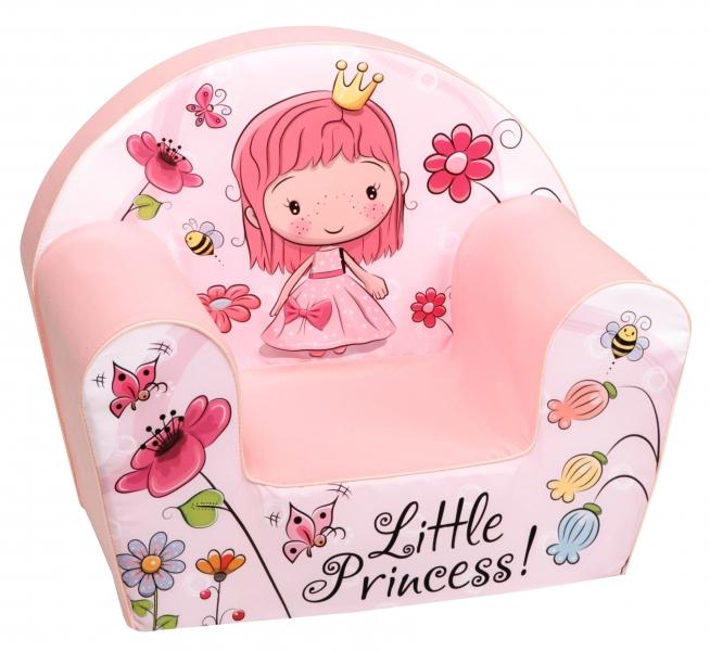 Delsit Detské kresielko, pohovka - Little Princess s kytičkami