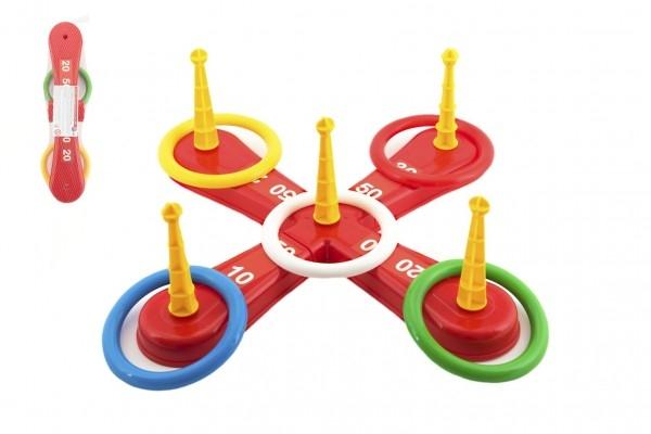Hádzacie hra plast kríž s kruhmi v sieťke
