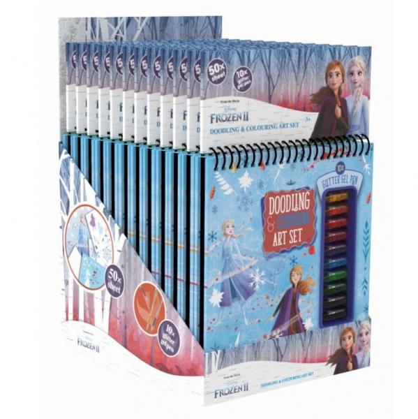 Blok kresliaci s gélovými perami Frozen 2 - Ľadové kráľovstvo