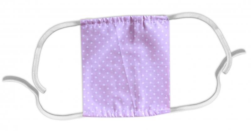 Bavlnená rúška, dvojvrstvová s vreckom - dámské motívy