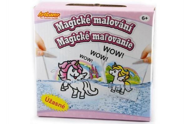 Magické maľovanie kreatívne sada v krabici 15x15x4cm