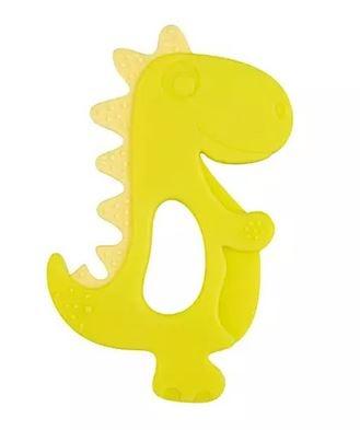 Silikónové hryzátko Canpol Babies Dino, zelenej, žltej