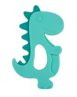 Silikónové hryzátko Canpol Babies Dino, zelený