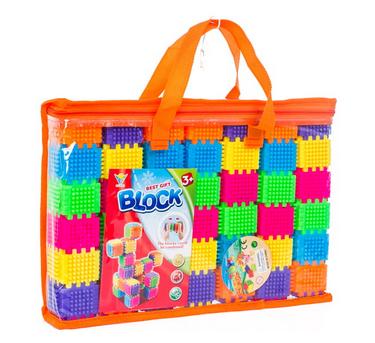 Farebné plastové kocky 182 kusov