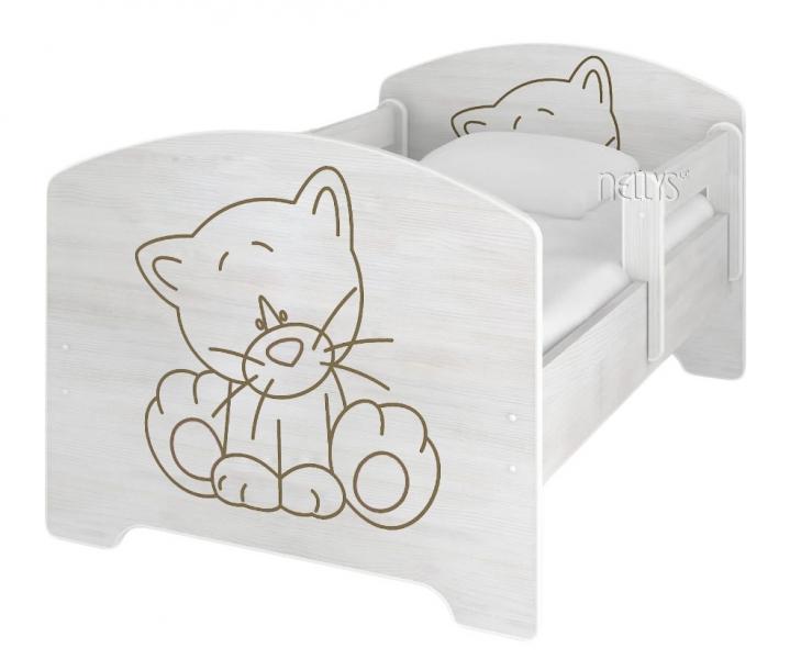 NELLYS Detská posteľ Macička vo farbe nórskej borovice + matrac zadarmo