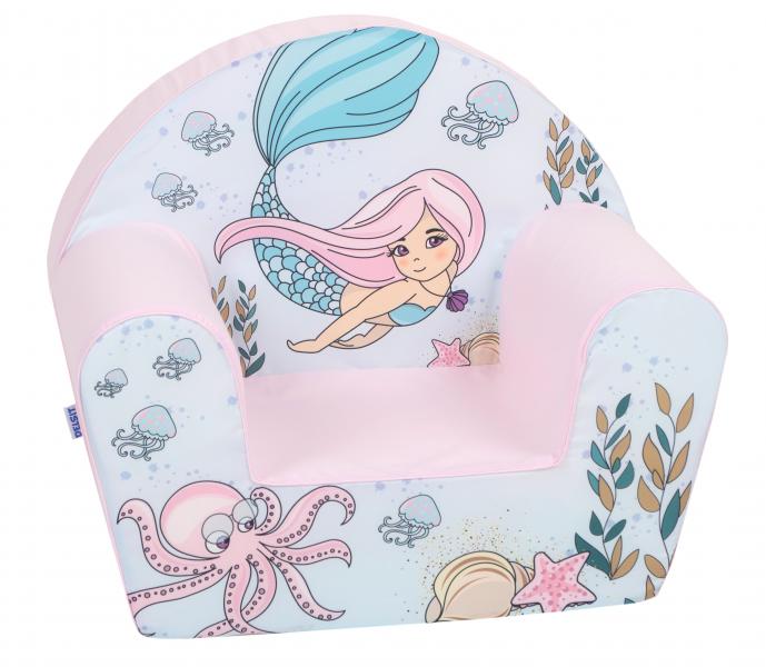 Delsit Detské kresielko, pohovka - Mořská víla, svetlo ružová