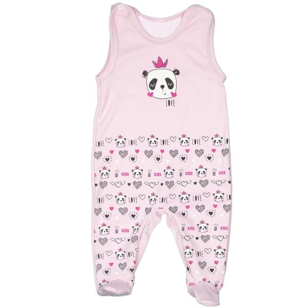 Dojčenská súprava PANDA Love, veľ. 68 - ružová