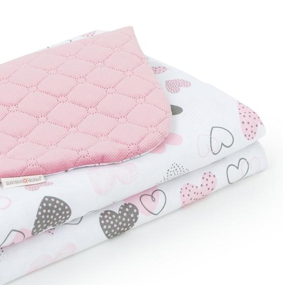 Mamo Tato Obojstranná deka Velvet Pik. 75 x 100 cm - Pastelové srdiečka / ružová