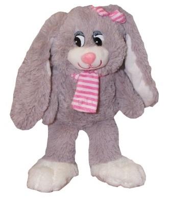 Plyšový zajačik Nina s růžovým šálom, túlilo, 30 cm