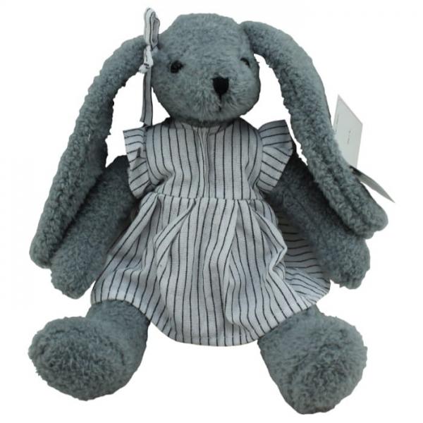 Plyšový zajačik Anežka v proužkovaných šatech, Tulilo, 30 cm