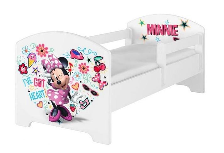 Babyboo Detská posteľ s penovým matracom Disney 140 x 70 cm - Minnie Music