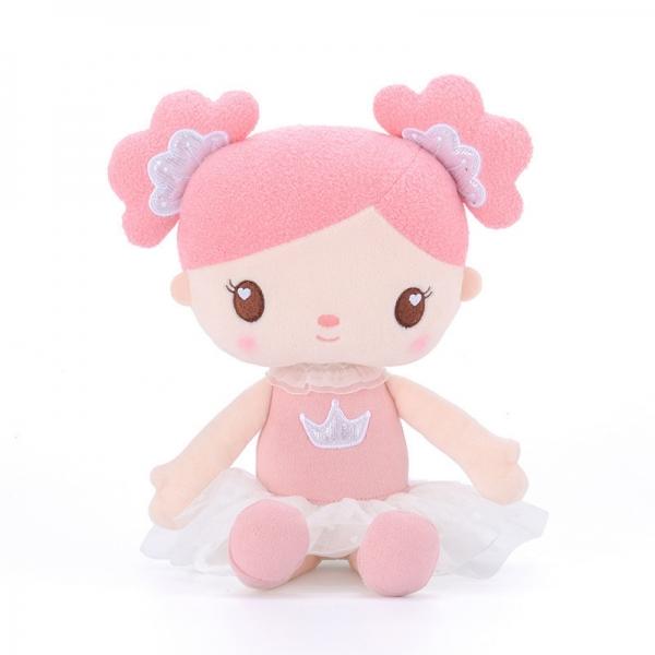 Handrová bábika Metoo Princezná - korunky - ružovo/biela