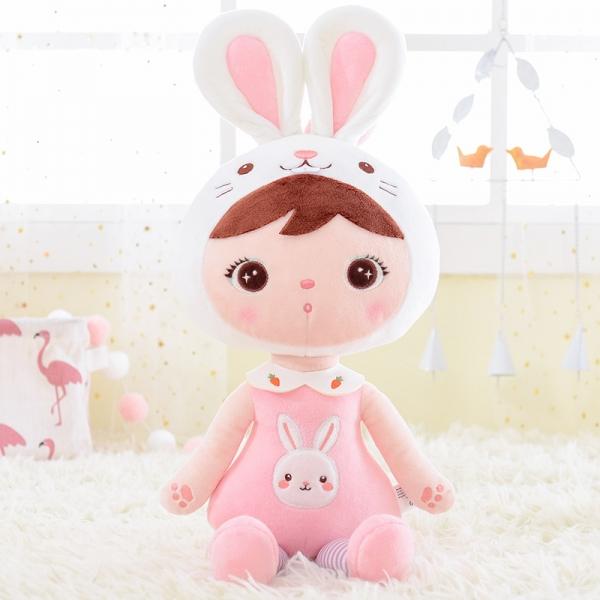 Handrová bábika Metoo Zajačik  - ružová