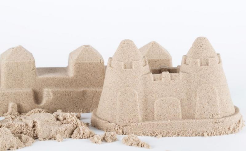 NaturSand Kinetický piesok - prírodný - 3kg + formičky, pieskovisko zadarmo