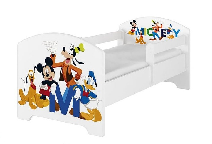 Babyboo Detská posteľ 140 x 70 cm Disney - Mickey Friends