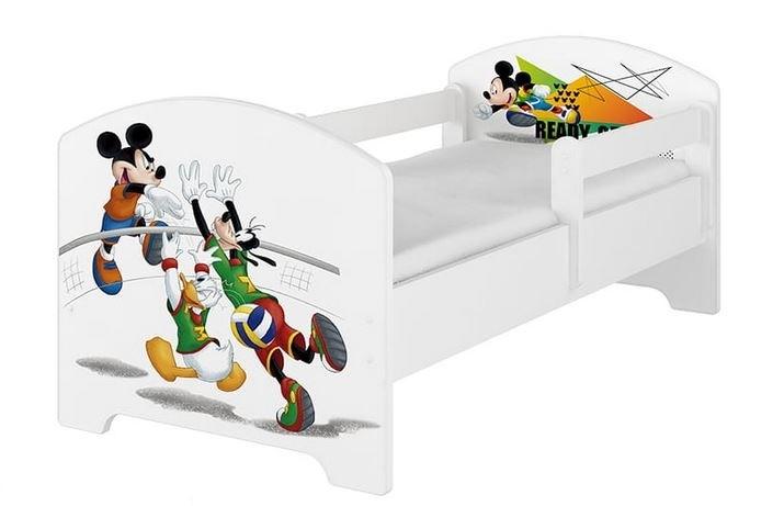 Babyboo Detská posteľ 140 x 70 cm Disney - Mickey Volleyball, biela