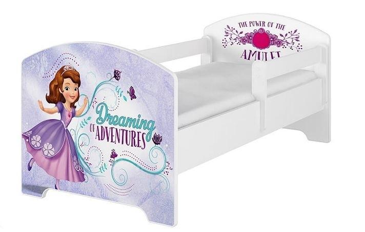 Babyboo Detská posteľ 140 x 70 cm Disney -  Sofie, biela