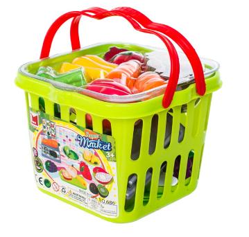 Košík plný zeleniny a ovocia + váha