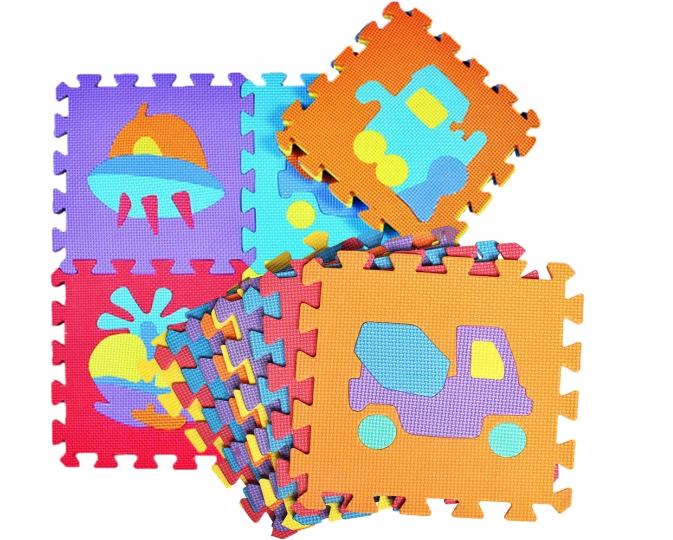 Penové puzzle stroje, 10 ks, 29 x 29 x 0,9 cm