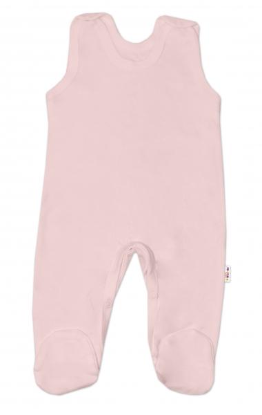Dojčenský set dupačiek BASIC - ružová, šedá, biela-3 ks, veľ. 68