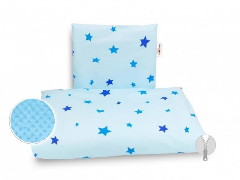 4-dielna súprava do kočíka Minky, Baby Nellys - Hviezdičky modré